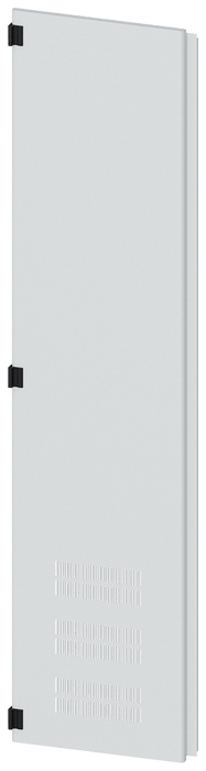 Door half, left, with ventilation openings, IP40, H: 2000 mm, W: 450 mm, RAL ... motor - 8MF1070-2UT25-2BA2