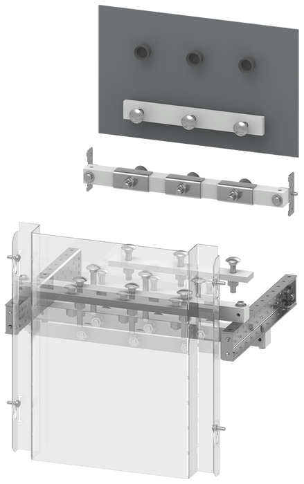 SIVACON S4 EBS holder and drawings for switch connection to cable SENTRON 3WL1116 withdrawable connection Width 400 mm for modular door motor - 8PQ6000-5BA80
