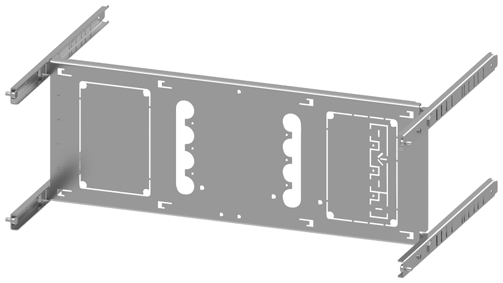 SIVACON S4 EBS SENTRON 3VL Switch 3VL2-3 up to 250 A 4-pole Mounting position horizontal Fixed mounting Number of switches 1 Height 200 mm Width 600 m motor - 8PQ6000-5BA02