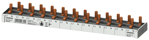 compact Pin Busbar, 10mm2 connection: 1p/N 12x compact device 1-pole touch protected 12 MW fixed length motor - 5ST3674-0