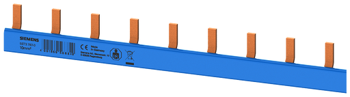 compact Pin Busbar, 10mm2 N (colour blue) MCB 1/N 1-pole touch protected colour blue 1000mm cuttable motor - 5ST3787-0