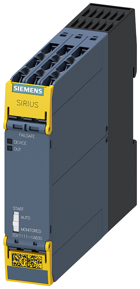 SIRIUS safety relay basic unit Standard series relay enabling circuits motor - 3SK1111-1AB30
