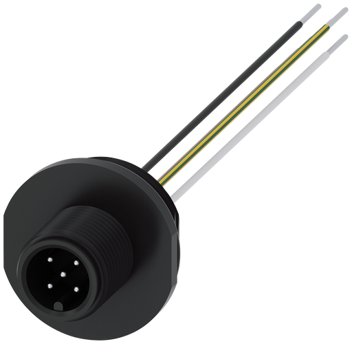 Accessory for position switches 3SE51/52  M12 connector 5-pole, for M20 x 1.5  Pin1=Brown cable, Pin2=White cable, Pin3=Yellow-green cable, Pin4=Black motor - 3SX5100-1SS51