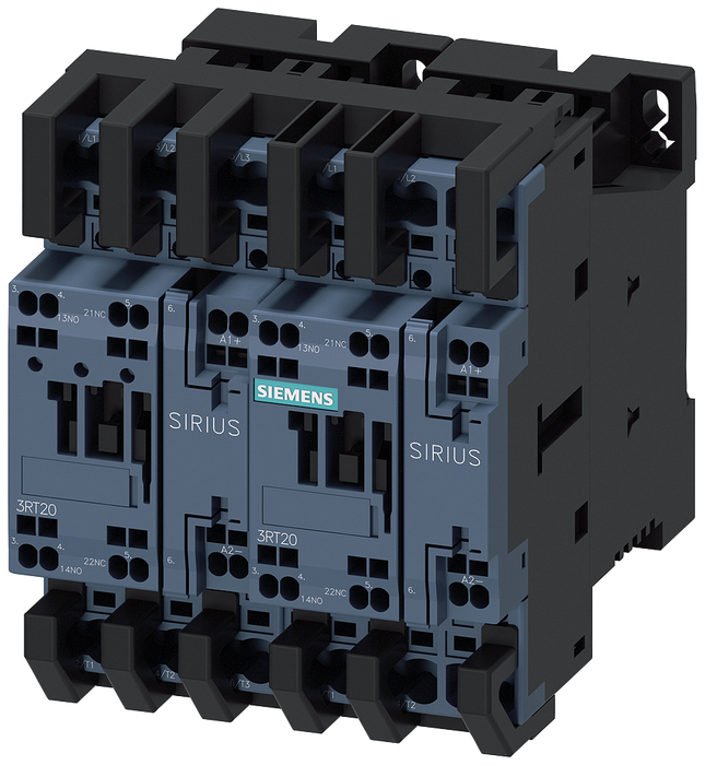 Reversing contactor assembly with IO-Link, AC3, 5.5 kW/400 V, 24 V DC 3-pole S0 motor - 3RA2324-8XE30-2BB4