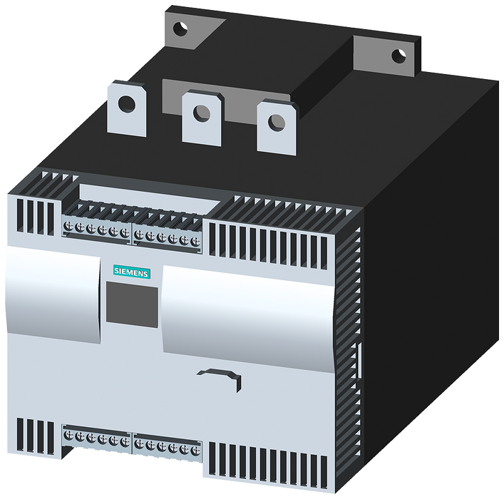 SIRIUS soft starter Values at 500 V, 40 °C Standard: 432 A, 315 kW Inside-delta: 748 A, 500 kW 400-600 V AC, 230 V AC Screw terminals motor - 3RW4447-6BC45