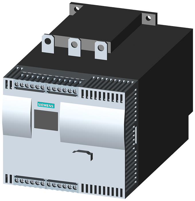 SIRIUS soft starter Values at 460 V, 50 °C Standard: 145 A, 100 hp Inside-delta: 251 A, 200 hp 200-460 V AC, 115 V AC Screw terminals motor - 3RW4436-6BC34