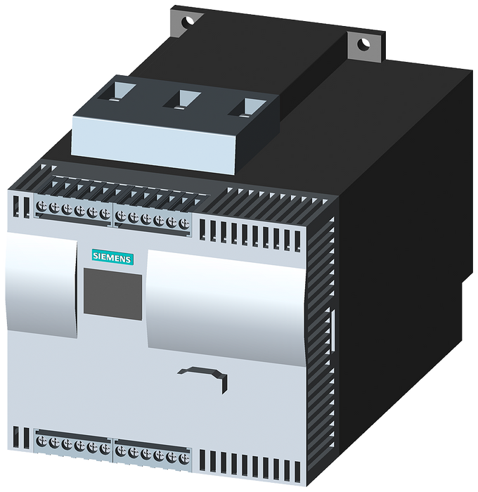 SIRIUS soft starter Values at 500 V, 40 °C Standard: 57 A, 37 kW Inside-delta: 99 A, 55 kW 400-600 V AC, 230 V AC Screw terminals motor - 3RW4425-1BC45