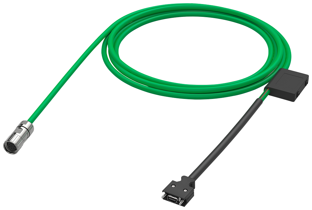 Power cable pre-assembled 4x 2.5, for motor - 6FX3002-5CL12-1BF0