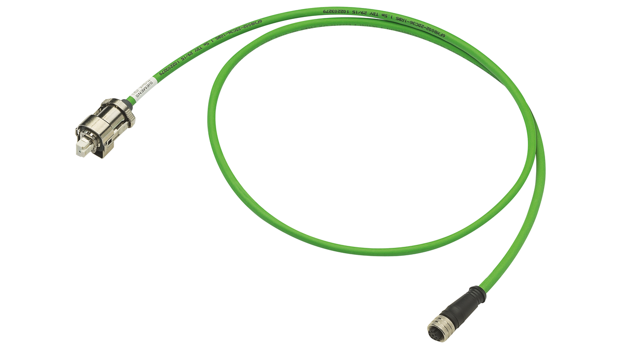 Signal cable pre-assembled type: 6FX5002-2DC36 DRIVE-CLiQ with 24 V M12 female/ RJ45 IP67 MOTION-CONNECT 500 Dmax=7.1 mm Length (m)=1 motor - 6FX5002-2DC36-1AB0