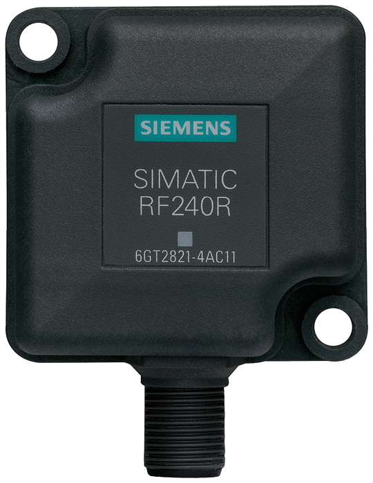 SIMATIC RF200 Reader RF240R  RS422 interface (3964R)  IP67, -25 to +70 °C  50x 50x 30 mm  with integrated antenna motor - 6GT2821-4AC10