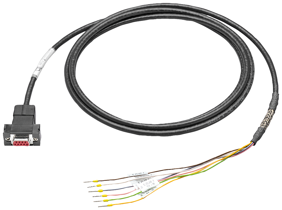 MOBY D plug-in cable between ASM 475 and SLG D1XS PUR, trailing, 5 m motor - 6GT2491-4EH50