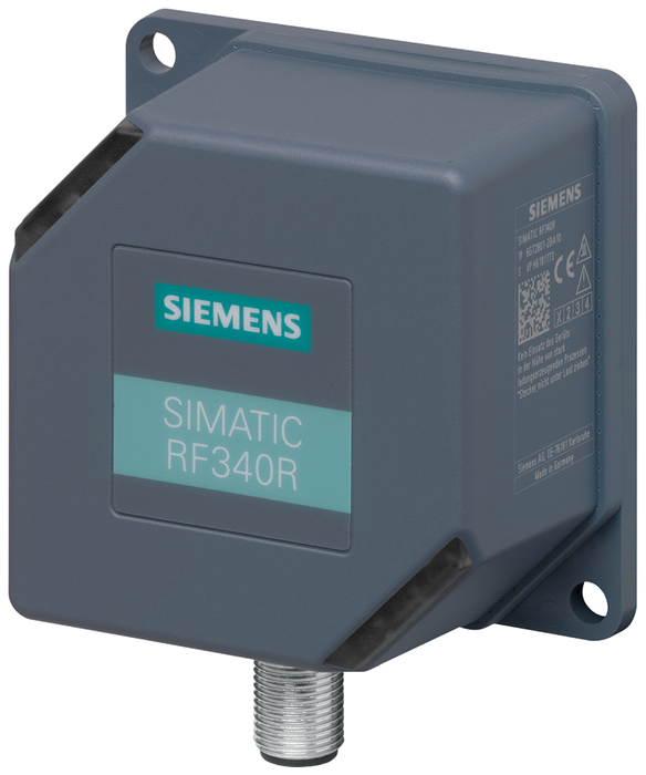SIMATIC RF300  Reader RF340R (GEN2)  RS422 interface (3964R)  IP67. -25 to +70 °C, 75x 75x 41 mm with integrated antenna Special variant ATEX (Zone 2) motor - 6GT2801-2BA10-0AX2