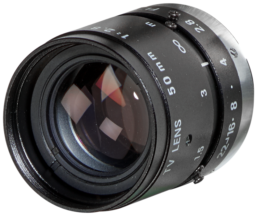 Mini lens 50 mm, 1: 2.8 PENTAX C5028-M (KP) with fixed focal distance motor - 6GF9001-1BJ01