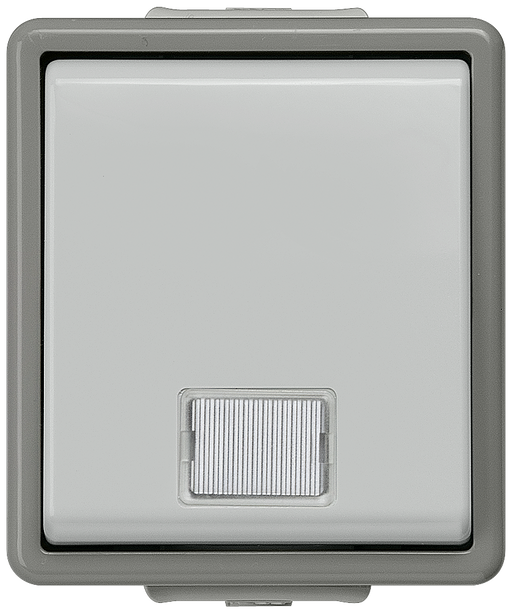 DELTA fläche IP44, AP Dark gray/light gray Control switch switchover 10A 250V, 66x 75 mm motor - 5TA4710