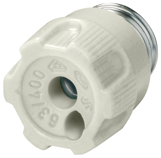 NEOZED screw cap porcelain size D01 16A with test hole motor - 5SH4317