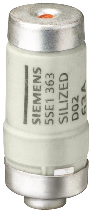 SILIZED fuse link 400 V gR, semiconductor protection size D02 63 A motor - 5SE1363