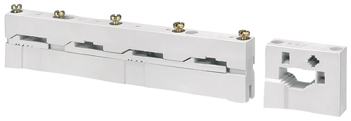 ALPHA DIN Busbar holder, 5-pole, center-line spacing 60 mm for mounting on stay Cu busbar 12x5 (10), 20x 5 (10), Bus-mounting fuse base, H=450 motor - 8GK9671-0KK00