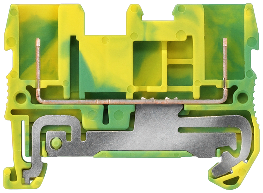 PE terminal, plug-in connection at both ends, Cross-section 0.08-2.5 mm2, Width: 5.2mm, Color: green-yellow motor - 8WH5000-0CF07