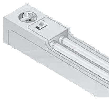 Control cabinet lamp with fluorescent tube motor - 8MF4900