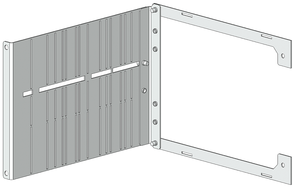 SIVACON S4 Basis block Categories for vertical distribution busbar or cable connection block Height 150 mm Width 600 mm motor - 8PQ5000-3BA65
