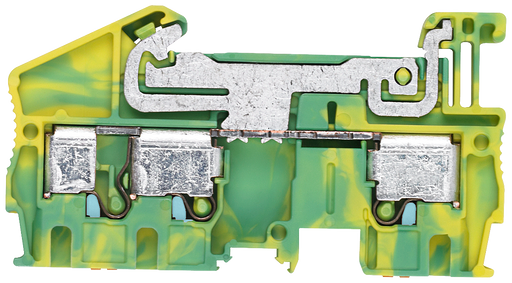 PE through-type terminal 4 mm2, 6.2 mm width green/yellow 3 clamping points motor - 8WH6003-0CG07