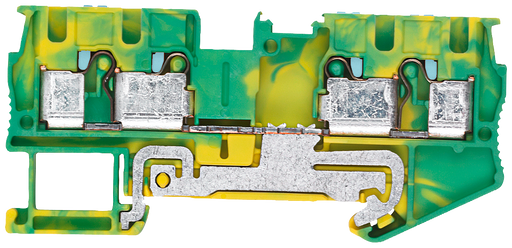 PE through-type terminal 4 mm2, 6.2 mm width green/yellow 4 clamping points motor - 8WH6004-0CG07
