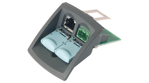 IE FC RJ45 modular outlet base module with power insert, replaceable insert 1x24 V DC motor - 6GK1901-1BE00-0AA3
