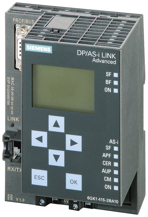 DP/AS-i link advanced, gateway PROFIBUS DP/AS-i with master profile M3 motor - 6GK1415-2BA10