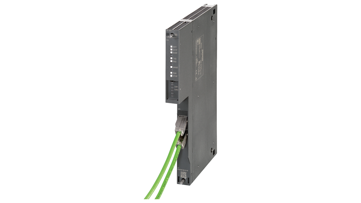CP 443-1 2x10/100 Mbps (IE switch) RJ45 ports, ISO, TCP, UDP, PN-IO controllers motor - 6GK7443-1EX30-0XE0