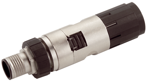 Industrial Ethernet FastConnect M12 plug PRO 2x2 M12 plug-in connector with rugged metal enclosure and FC connection method, with axial cable outlet ( motor - 6GK1901-0DB20-6AA0
