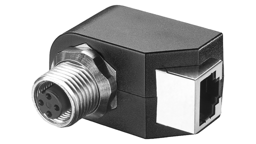 IE M12 panel feedthrough control cabinet bushing to transition from M12 connection (D-coded)- connection method (IP65) to be RJ45 connection technolog motor - 6GK1901-0DM20-2AA5