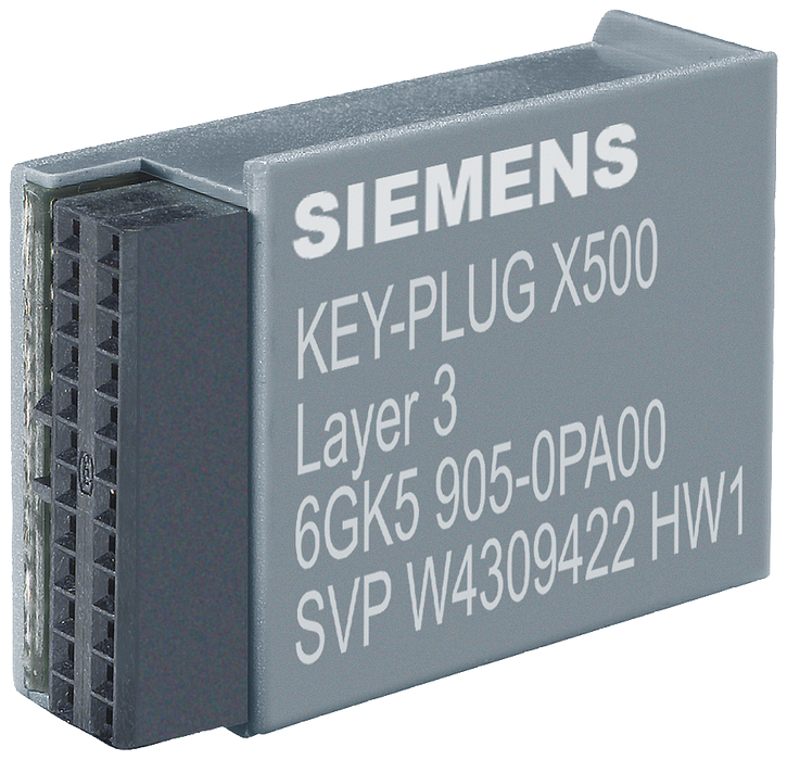 KEY-PLUG XR-500 Layer 3, Removable data storage medium for enabling of Layer 3 features for SCALANCE XR-500  contains all C-plug functions for simple motor - 6GK5905-0PA00