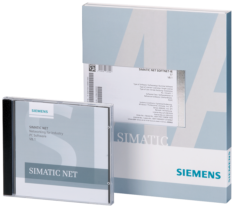 SIMATIC NET HARDNET-IE S7 V15 SW for S7, open communication  OPC, PG/OP communication, configuration software  up to 120 connections  Floating-License motor - 6GK1716-1CB15-0AK0