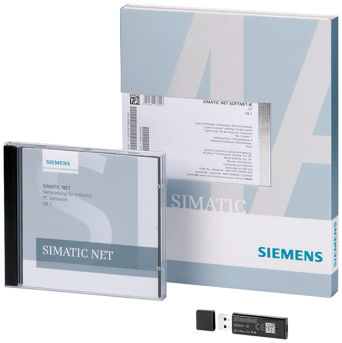 SIMATIC NET SOFTNET-PB DP V15  SW for PROFIBUS DP incl. FDL  with OPC server and config. SW  R-SW, Floating License  SW + electr. manual on DVD  Licen motor - 6GK1704-5DW15-0AA0