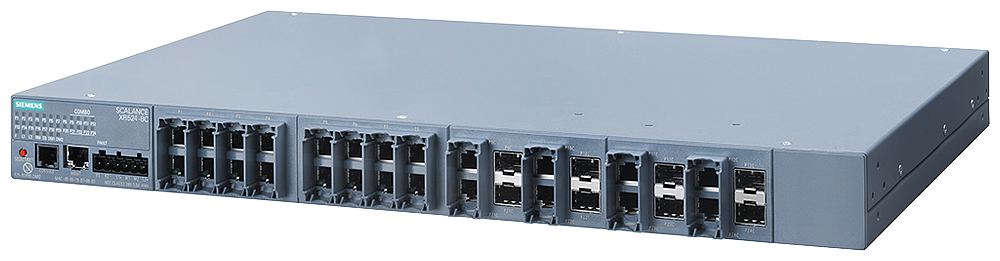 SCALANCE XR524-8C  managed IE switch  Layer 3 integrated  Power supply 24 V DC  24x 10/100/1000 Mbit/s RJ45  8x 100/1000 Mbit/s SFP  contains 8 combo motor - 6GK5524-8GR00-2AR2