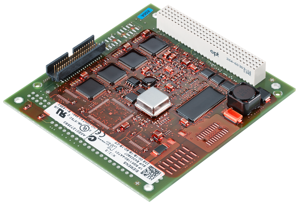 Communications processor CP 1604 EEC PC/104 plus card (32 bit  33/66M Hz  3.3/5V) with ASIC ERTEC 400 for connection to PROFINET IO with 4-port real-t motor - 6GK1160-4AT01
