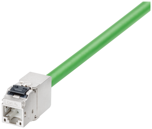 IE FC Keystone RJ45 4 x 2 RJ45 connector that can be assembled in the field  Outlet  8 pole  Cat6A  metal enclosure  FC Fast connection method  for st motor - 6GK1901-0BE10-0AA0