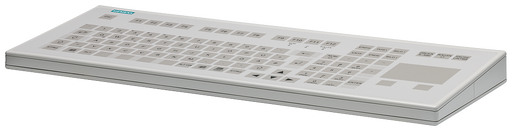 PS2 membrane keyboard DE, with touch pad, desktop keyboard for devices with corresponding interface Further information, Quantity and content: see tec motor - 6GF6710-2AC