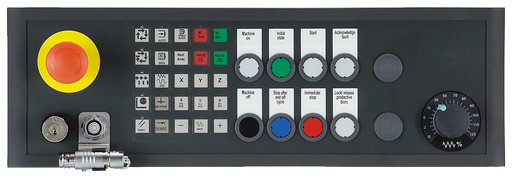 SINUMERIK Push Button Panel MPP 483 IEH-S67 Connection Industrial Ethernet with connection for HT 8 Customer-specific variant based on 6FC5303-1AF10-8 motor - 6FC5303-1AF12-8CW0