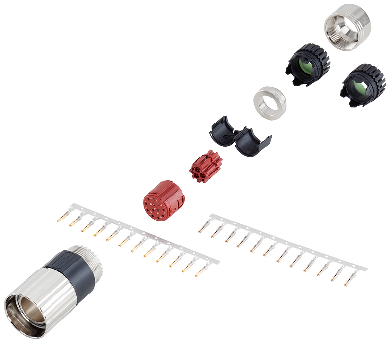Signal connector 17-pole type: 6FX2003-0SU40 SPEED-CONNECT union nut socket 1x 17-pole insulator 17x cont. (0.08-0.22 mm2) 17x cont. (0.20-0.56 mm2) 2 motor - 6FX2003-0SU40
