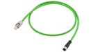 DRIVE-CLiQ cable type: 6FX5002-2DC30 Pre-assembled for direct measuring systems with 24 V Connector RJ45, IP20 and Mating connector M12, IP67 MOTION-C motor - 6FX5002-2DC30-1BJ0