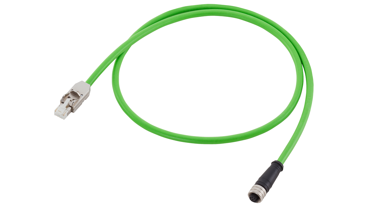 DRIVE-CLiQ cable type: 6FX5002-2DC30 Pre-assembled for direct measuring systems with 24 V Connector RJ45, IP20 and Mating connector M12, IP67 MOTION-C motor - 6FX5002-2DC30-1BC0