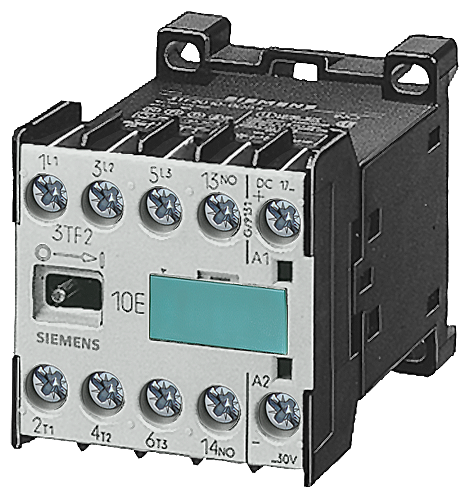 Contactor S00 3-pole AC-3 4 kW/400 V, auxiliary switch 22E (2 NO + 2 NC) width 45 mm motor - 3TF2222-0AB0