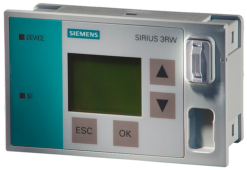 External display and control module for SIRIUS soft starter 3RW44 Connecting cable e.g. 2.5 m (3UF7933-0BA00-0) not included in scope of delivery Requ motor - 3RW4900-0AC00
