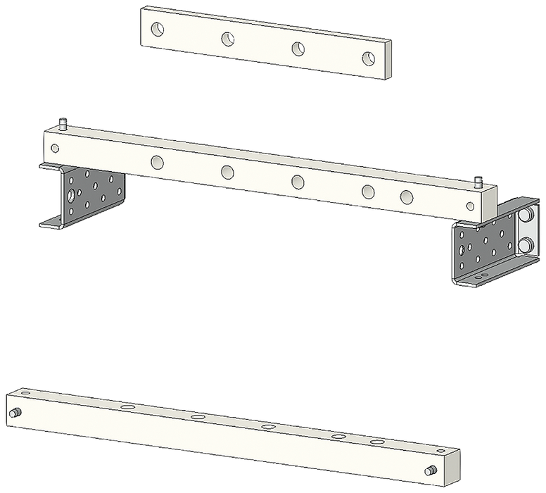 SIKUS/SIVACON Holder for connection 3VL to main busbar Switch 3VL7-8, 1250 A, 1600A 3 or 4-pole Fixed mounting Width 400 mm Depth 400 mm motor - 8PQ6000-4BA75