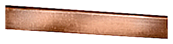 Flat copper rod 15x 5 mm approx. 2.4 meters long uninsulated motor - 8WC5121