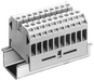 Through-type terminal thermoplast Screw terminal on both sides Terminal block 10-pole, beige with label 1...10 65.5mm, Sz. 4 motor - 8WA1011-0DG22