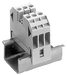 Through-type terminal thermoplast Screw terminal on both sides Terminal block 3-pole, beige 24.5mm, Sz. 6 motor - 8WA1011-3DH21
