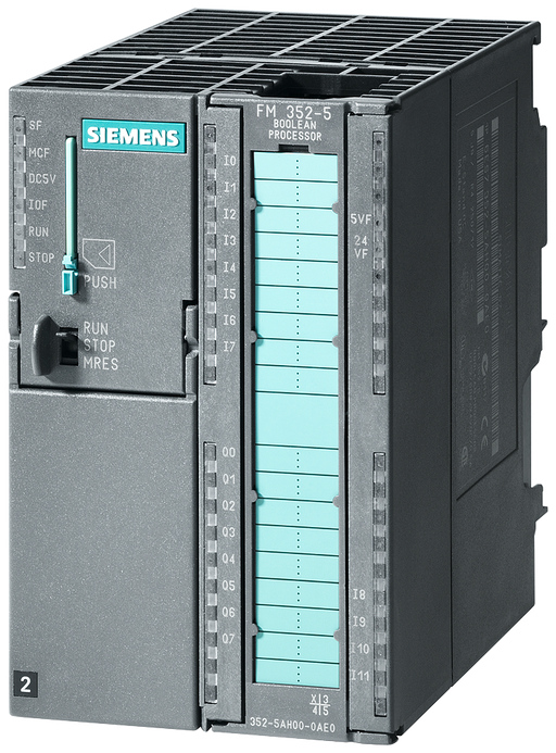 SIMATIC S7-300, FM352-5 with PNP output, High Speed Boolean Processor, for high-speed linking, 12 DI, 8 DO, 1 encoder interface for RS422 incr./SSI en motor - 6ES7352-5AH11-0AE0