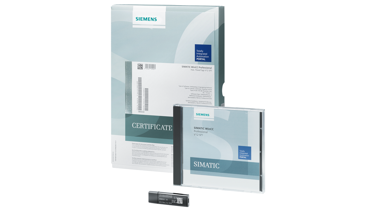 WinCC Runtime Professional SW package for SIMATIC IPC 512- 6AV2115-2DA00-0AA0